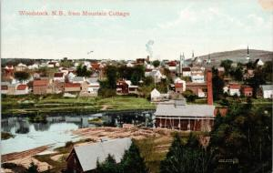 Woodstock New Brunswick NB from Mountain Cottage Postcard D78