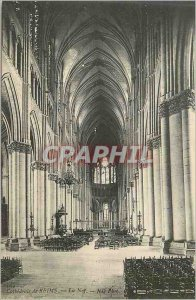Postcard Old Cathedral of Reims Nef