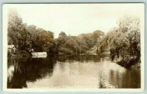 Middle Granville New York~Mettowee River~Cabins & Steps on Riverbank~1920s RPPC