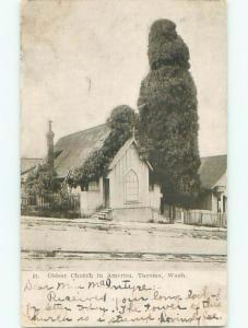 Pre-1907 CHURCH SCENE Tacoma Washington WA p5460