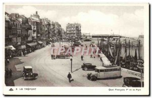 Treport - Quai Francois I and the Port - Old Postcard