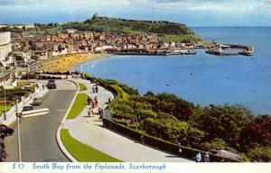 Vintage 1960 Postcard, Scarborough, South Bay from the Esplanade 1T