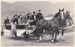 RP: Dominion Day, Horse-drawn wagon, Kamloops, British Columbia, 1923