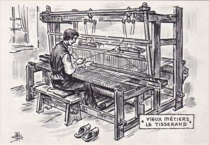 Vieux Metiers Le Tisserand , France , 1970-90s ; Weaver on Loom
