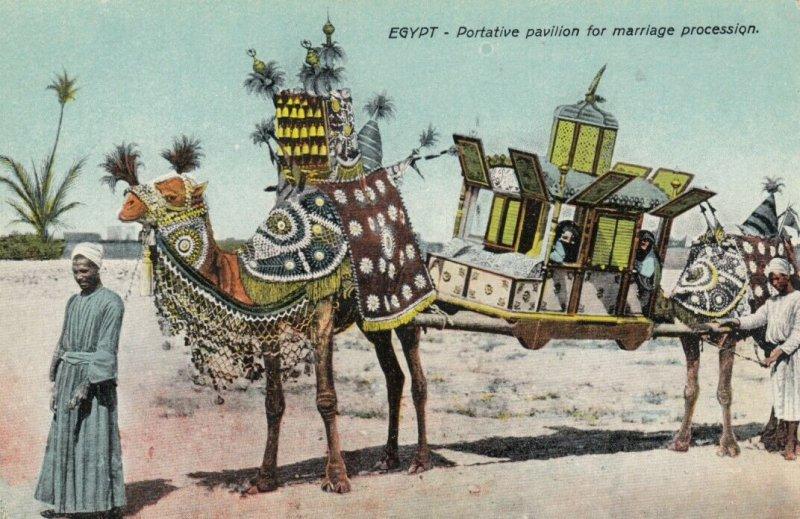 EGYPT , 00-10s ; Portative pavilion for marriage procession