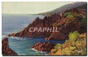 Old Postcard La Douce France Cote d & # 39Azur Trayas Les Rochers
