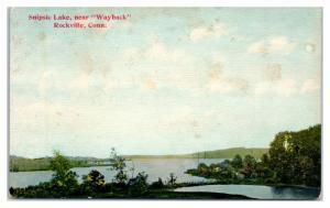 Early 1900s Snipsic Shenipsit Lake, near Wayback, Rockville, CT Postcard
