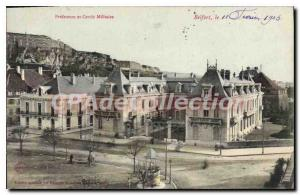Old Postcard Belfort Prefecture And Military Circle