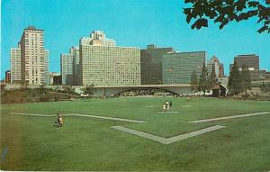 Point State Park Fort Pitt, Downtown Pittsburg PA Postcard
