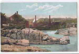 Ragged Rocks on Mohawk River, Little Falls NY
