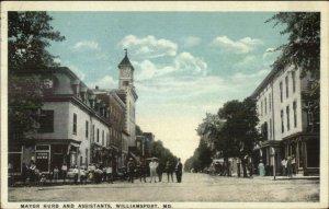 Williamsport MD Mayor Hurd & Assistants c1920 Postcard