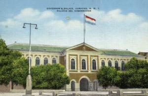 curacao, N.W.I., WILLEMSTAD, Governor's Palace (1940s)