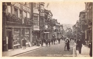 High Street, Winchester, England, Great Britain, Early Postcard, Unused