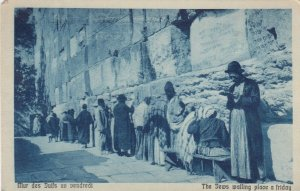 JERUSALEM, Israel, 10-20s; The Jews walling place a friday # 2