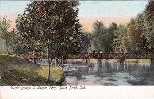 Indiana South Bend Rustic Bridge In Leeper Park
