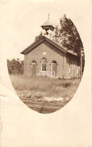 A82/ Wakeman Ohio Postcard Real Photo RPPC c1911 School House Building