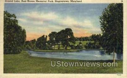 Crystal Lake, Rest Haven Memorial Park Hagerstown MD Unused