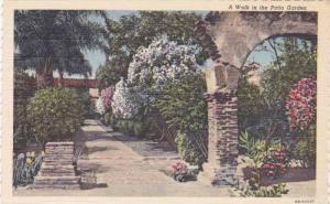 A Wall in the Patio Garden, Mission San Juan Capistrano, California, 30-40s(2)