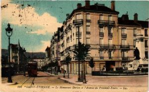 CPA St-ÉTIENNE - Le Monument Dorian et l'Avenue du Président-Faure (226045)