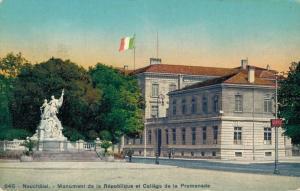 Switzerland Neuchatel Monument de la République et College de la Promenade 02.94