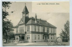 Town Hall Falmouth Massachusetts 1907c Rotograph postcard