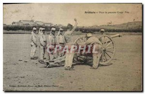 Old Postcard Artillery Fire For Prime Coup