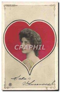 Old Postcard Fantaisie Heart