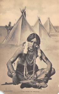 Native Americana~The Pipe of Peace~Indian Brave Cross Legged~Arkansas City~'09