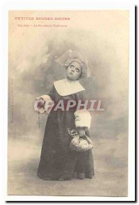 Small Happy sisters Old Postcard expelled Faith softens & # 39infortune