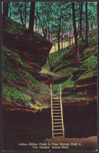 Indian Hiding Place,Frisz Ravine,Waveland,IN Postcard