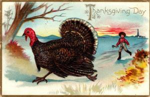 Thanksgiving With Turkey 1908 Tucks