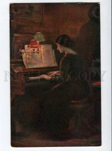 270080 Illuminated BELLE near PIANO BRUNNINGEN OLD russian PC
