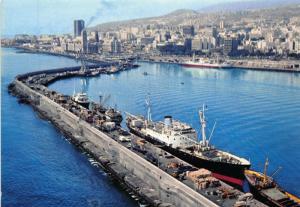 Spain Partial view Harbour Boats Port Bateaux Postcard
