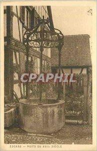 Postcard Old Eschau well the seventeenth century