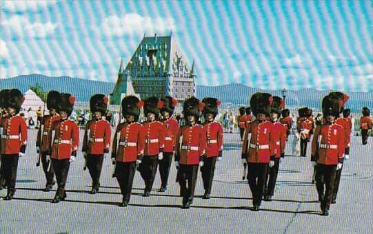 Canada Changing Of The Guard At La Citadelle Quebec  La Citadelle 1970