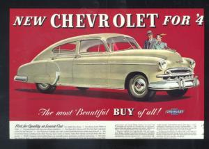 1941 CHEVROLET SEDAN CAR DEALER ADVERTISING POSTCARD '41 CHEVY