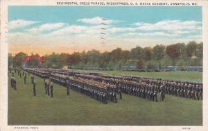 ANNAPOLIS - Naval Academy , Maryland , PU-1936 ; Dress Parade