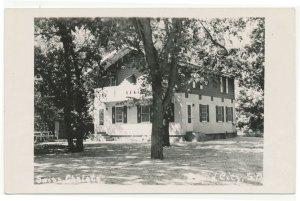 1940s Swiss Chalets Motel Rapid City South Dakota Real Photo Postcard RPPC
