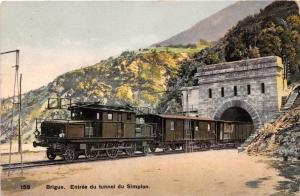 BRIGUE SWITZERLAND ENTREE DU RAILROAD TUNNEL DU SIMPLON POSTCARD c1910s