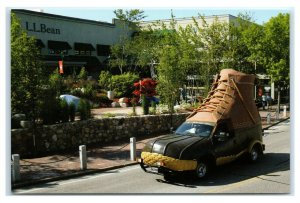 Postcard The Bootmobile - LL Bean, Freeport, Maine ME boot K2