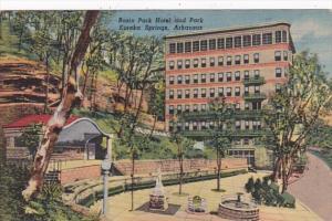 Arkansas Eureka Springs Basin Park Hotel and Park Curteich