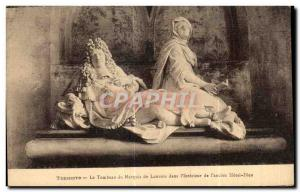 Thunder Old Postcard Tomb of Mareuis Louvois in I Interieur