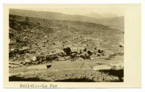 RP, A Bird's Eye View, With Mt. Illimani To The Right, La Paz, Bolivia, 1900-10s
