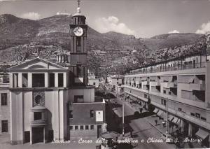 Italy Cassino Corso della Republica e Chiesa di San Antonio