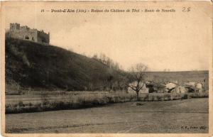 CPA Pont d'Ain Ruines du Chateau de Thol, Route de Neuville (684626)