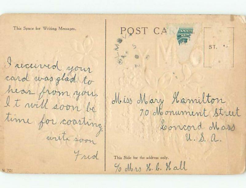 Pre-Linen LANGUAGE OF FLOWERS - TO MY SWEETHEART - SPELLED WITH IVY W7038
