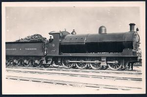 LANCASHIRE & YORKSHIRE Railroad Locomotive #396 RPPC unused