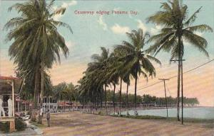 Panama Causeway Edging Panama Bay