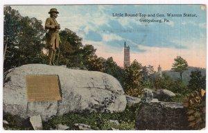 Gettysburg, Pa, Little Round Top and Gen. Warren Statue