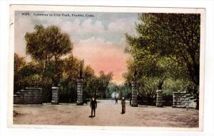 PUEBLO, Colorado, 1900-1910's; Gateway To City Park